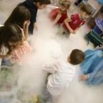 шоу, дым, дети, праздник