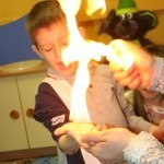 шоу, огонь, мальчик, представление
